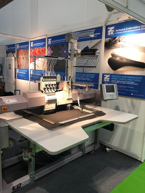 embroidery machine exhibition by stocks embroidery machinery